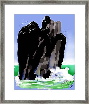 Bird Rock Off Marin Headlands Framed Print