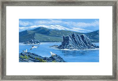 Bird Rock Puget Sound Framed Print by Bob Patterson