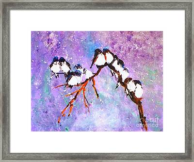 Bird Snowfall Limited Edition Print 1-25 Framed Print