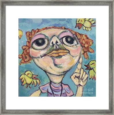 Bird Watcher Framed Print by Michelle Spiziri