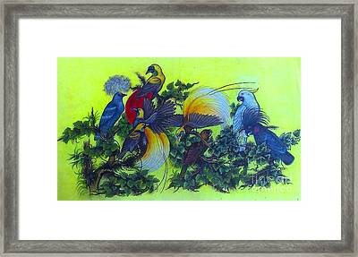 Bird Watercolor Framed Print