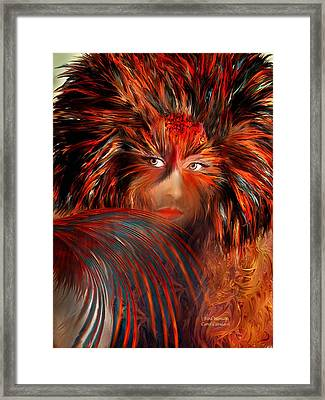 Bird Woman Framed Print