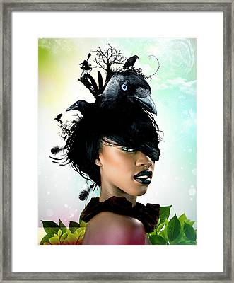 Bird Women Framed Print by Pedro Ferreira