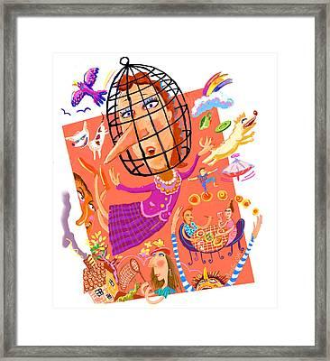 Birdbrain Framed Print by Annabel Lee