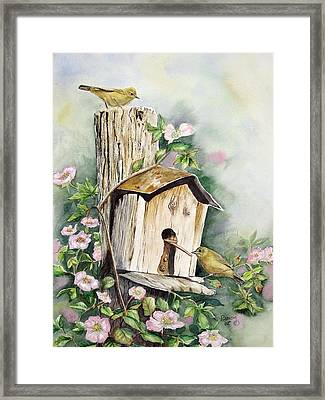 Birdhouse Buddies Framed Print