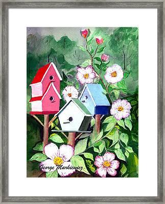 Birdhouse Framed Print by George Markiewicz