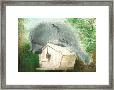 Birdie In The Hole Framed Print