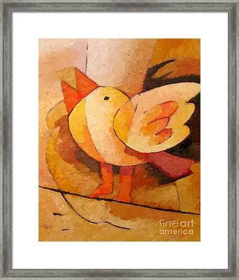 Birdie Framed Print by Lutz Baar