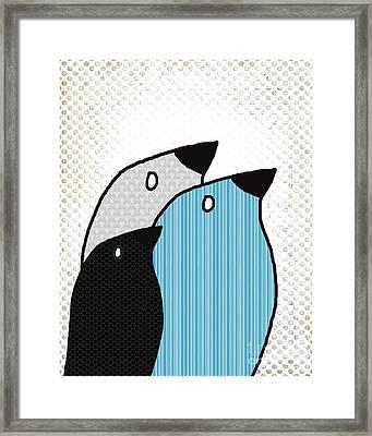 Birdies - 6901a Framed Print