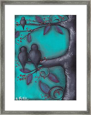 Birdies  Framed Print by  Abril Andrade Griffith