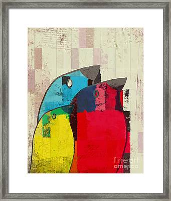 Birdies - J039088097a Framed Print by Variance Collections