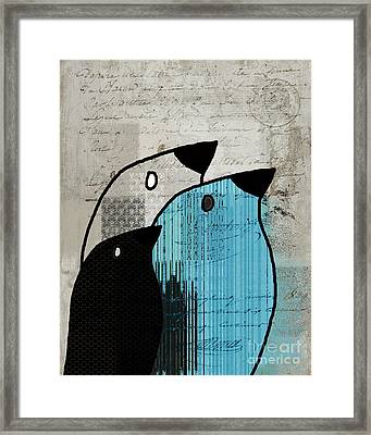 Birdies - J693b2 Framed Print by Variance Collections