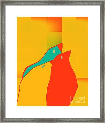 Birdies - P01p2t6 Framed Print by Variance Collections