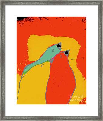 Birdies - Q11a Framed Print by Variance Collections