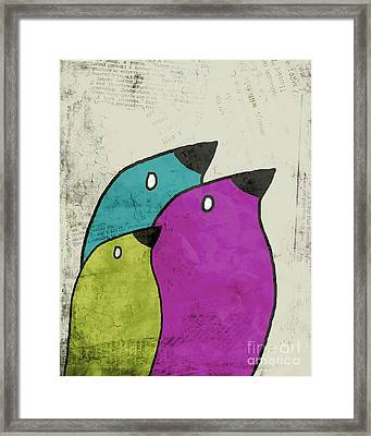 Birdies - V06c Framed Print by Variance Collections