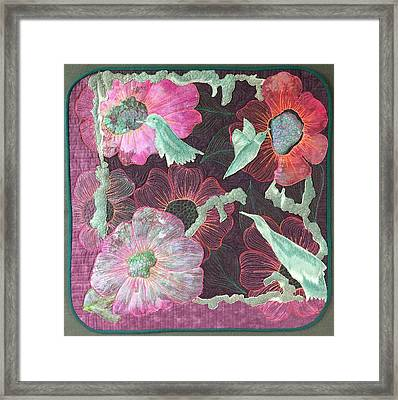 Birds And Blooms Framed Print
