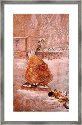 Framed Print featuring the painting Birds And Board by Debbi Saccomanno Chan