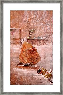 Birds And Board Framed Print by Debbi Saccomanno Chan