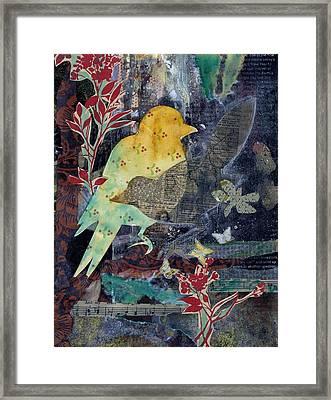 Birds And Butterflies Framed Print