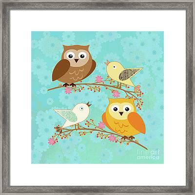 Birds And Owls Framed Print