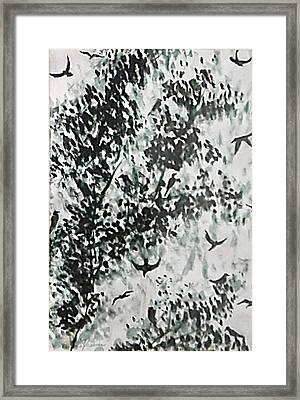 Birds At Sundown II Framed Print by Caroline  Urbania Naeem