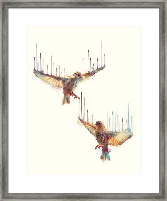 Birds // Awake Framed Print by Amy Hamilton