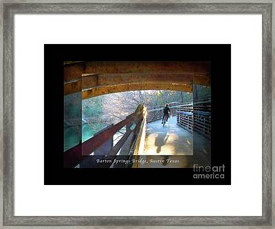 Birds Boaters And Bridges Of Barton Springs - Bridges One Greeting Card Poster V2 Framed Print by Felipe Adan Lerma