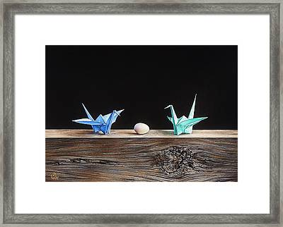 Birds Framed Print by Elena Kolotusha