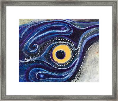 Birds Eye Framed Print by Leela Payne