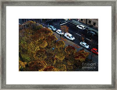 Bird's Eye Of A Berlin Street Framed Print