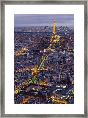 Bird's Eye On Paris 1 Framed Print by Pablo Lopez