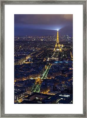 Bird's Eye On Paris 3 Framed Print by Pablo Lopez
