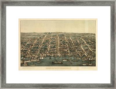 Birds Eye View Of Alexandria, Va. Framed Print
