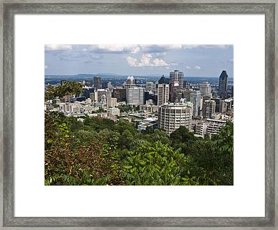 Birds Eye View Of Montreal, Canada Framed Print by Stacy Gold
