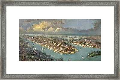 Bird's Eye View Of New York City  Framed Print