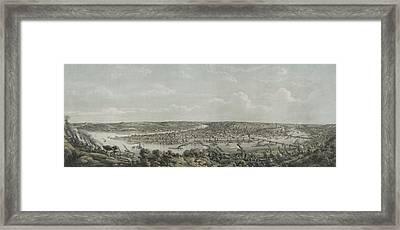 Birds-eye View Of Pittsburgh Framed Print by Everett