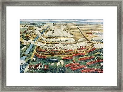 Bird's-eye View Of The Battle Of Tel El-kebir Framed Print by English School