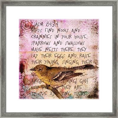 Birds Have Nests Framed Print