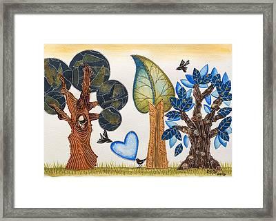 Birds In Love Framed Print
