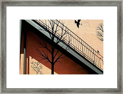 Birds In The Alley Framed Print
