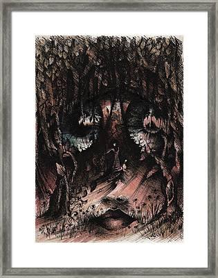 Birds In The Wood Framed Print