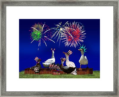 Birds Of A Feather Celebrate Freedom Framed Print by Gravityx9  Designs