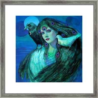 Birds Of Duality Fantasy Art Framed Print