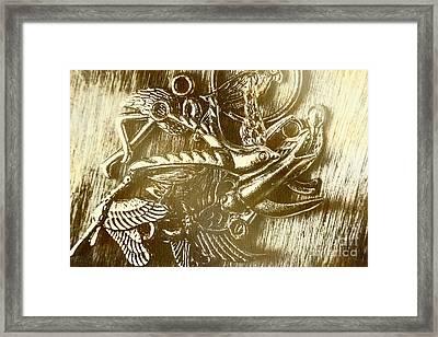 Birds Of Metal Framed Print