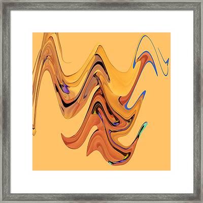 Birds Of Paradise Improvisation Framed Print