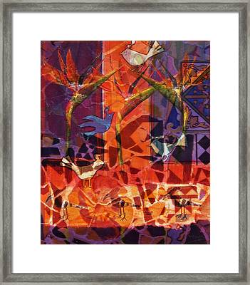 Birds Of Paradise Framed Print by Valerie Brown