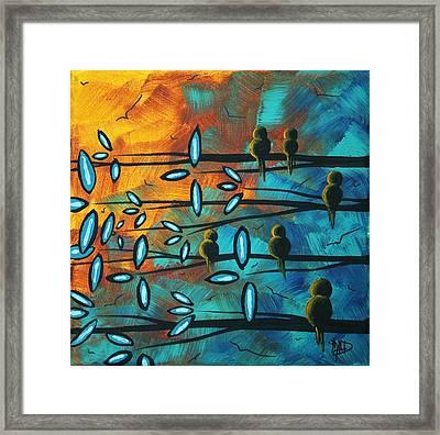 Birds Of Summer By Madart Framed Print by Megan Duncanson