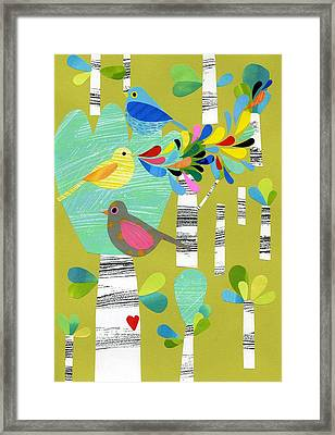 Birds Of The Forest Framed Print