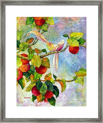 Birds On Apple Tree Framed Print by Hailey E Herrera