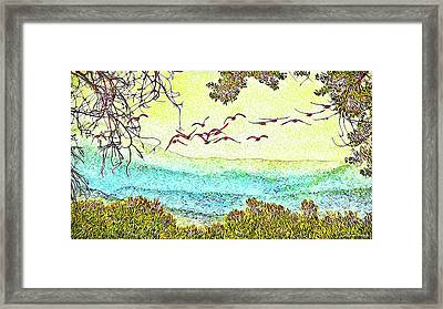 Birds Over Horizon - Boulder County Colorado Framed Print